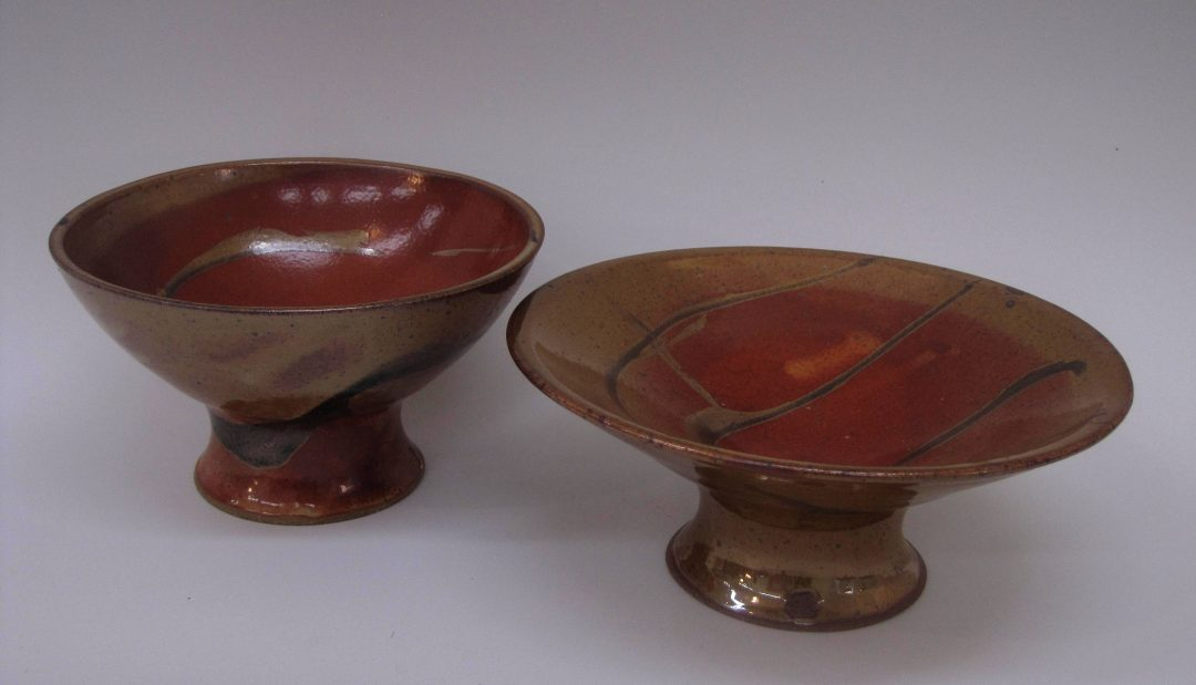 """item # 246   Pedestal Style Bowls  4′ to 5"""" tall"""