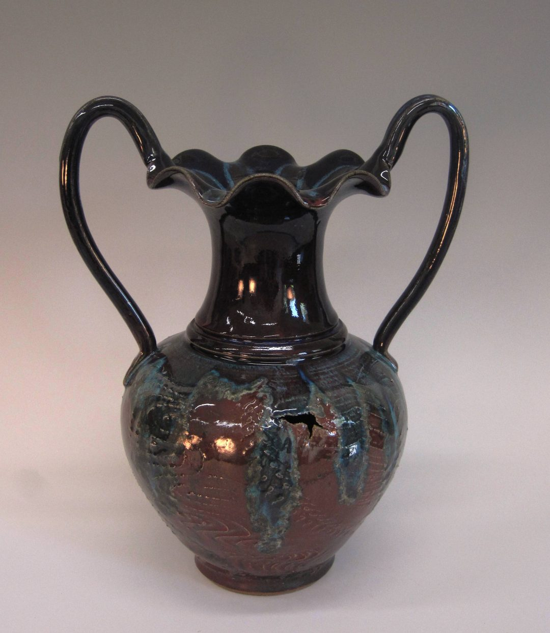 "Vase with Handles 12.5"" x 10""   item # 252"