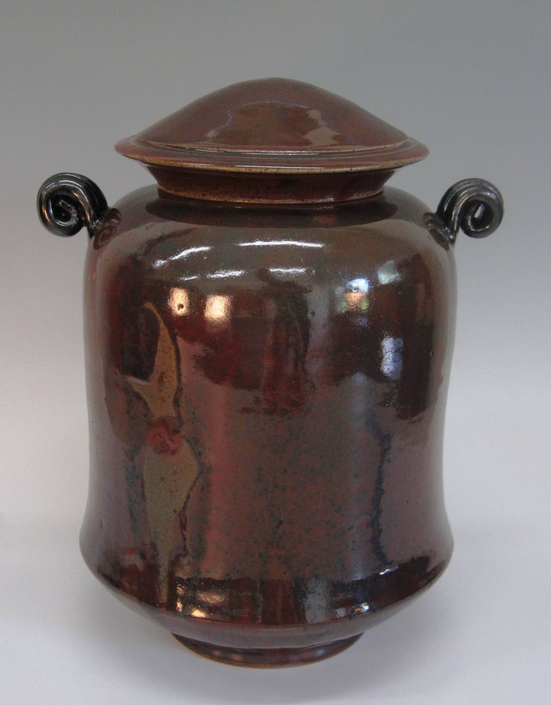 "Jar with Lid and Handles 13.5"" x 11""  item # 254"