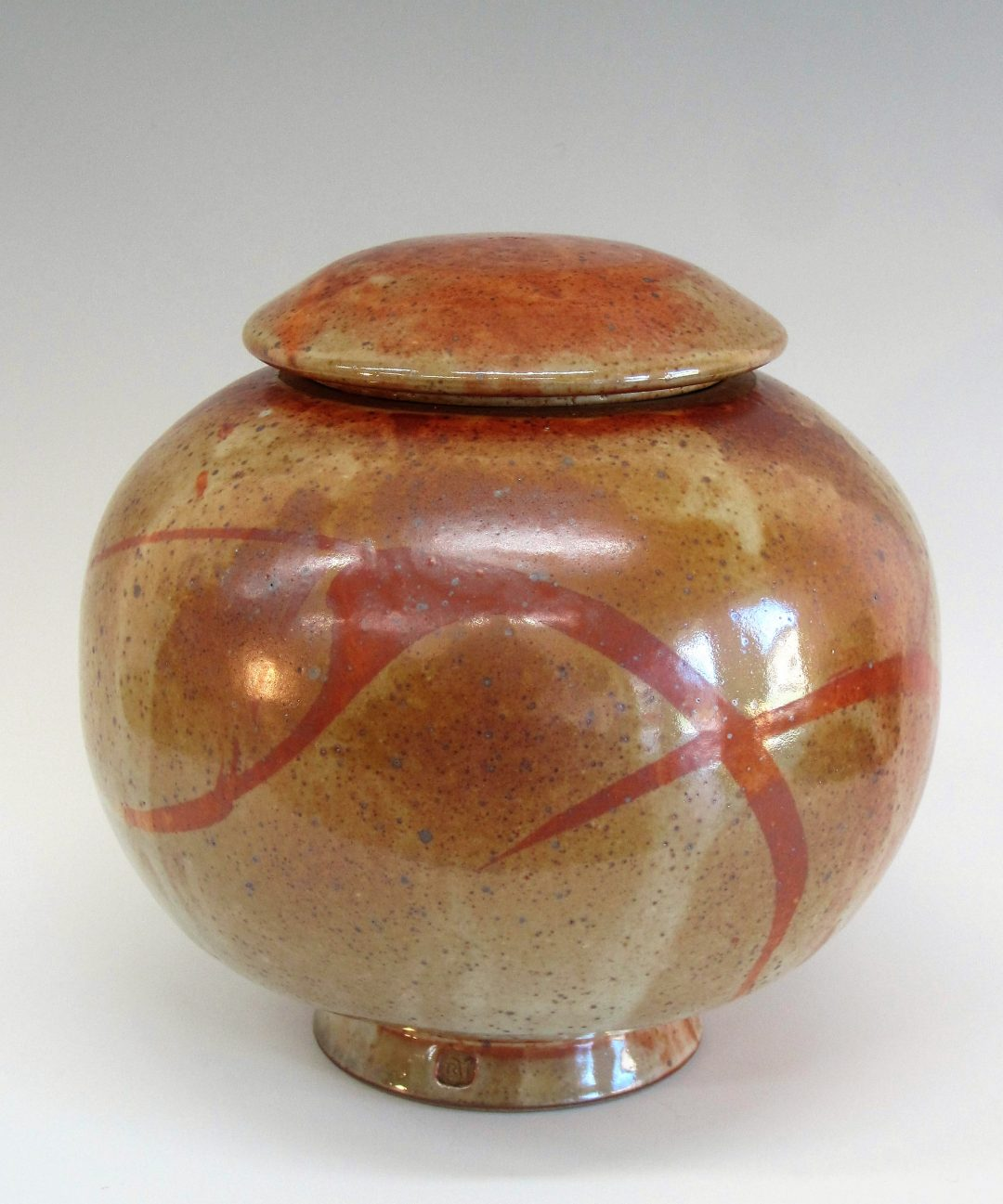 "Item # 279 Lidded Jar  9""x 9""  $150"