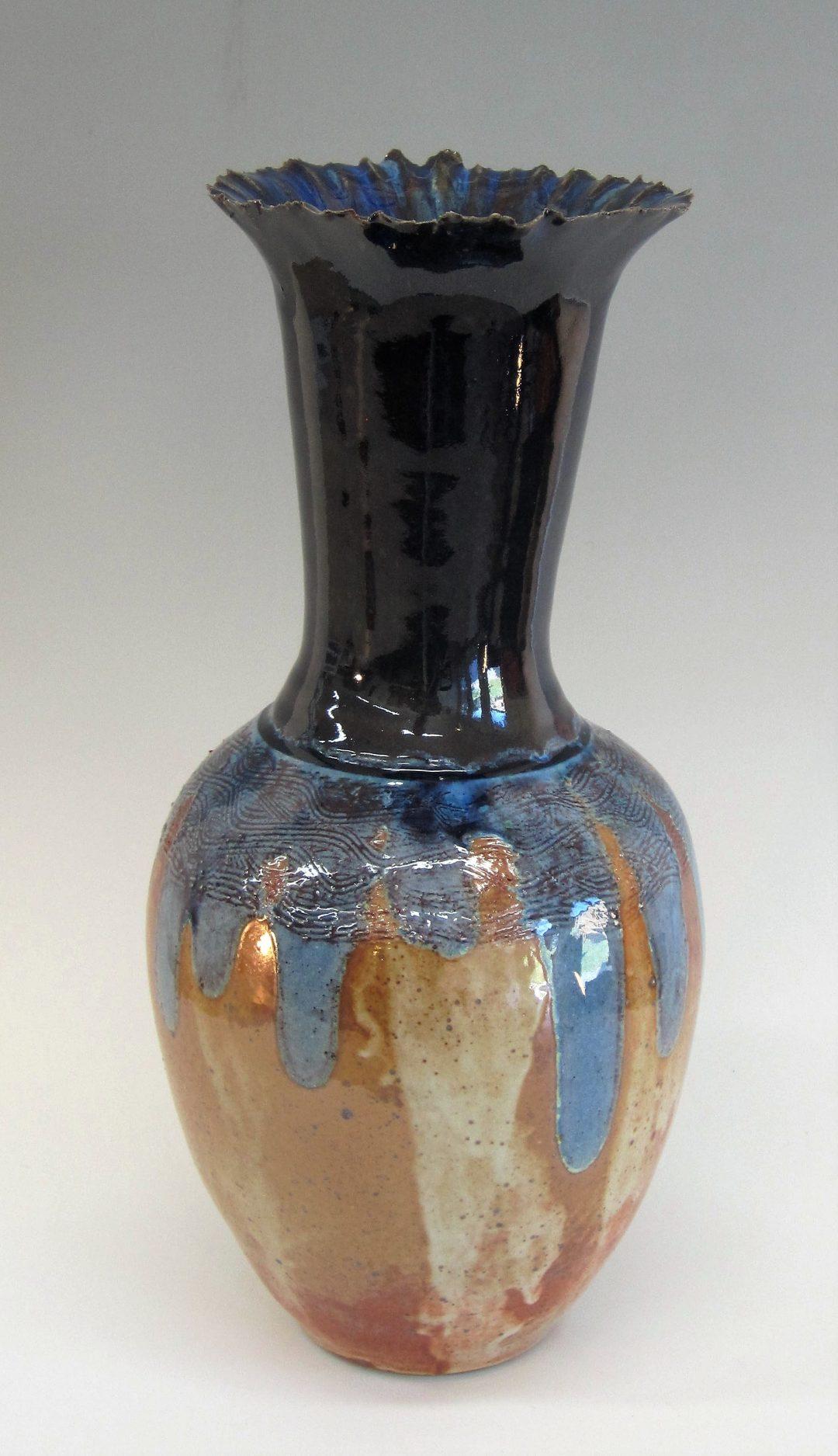"""Item# 286 Flared Rim Vase 16""""x 7""""  $195"""
