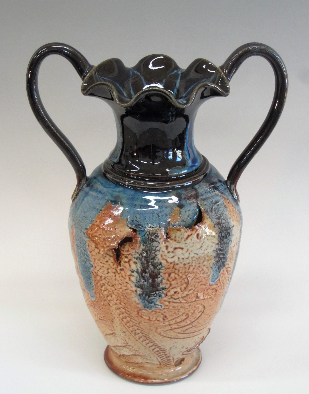 "Item #290 Split & Torn Vase  13 1/2""x 9 1/2""  $165"