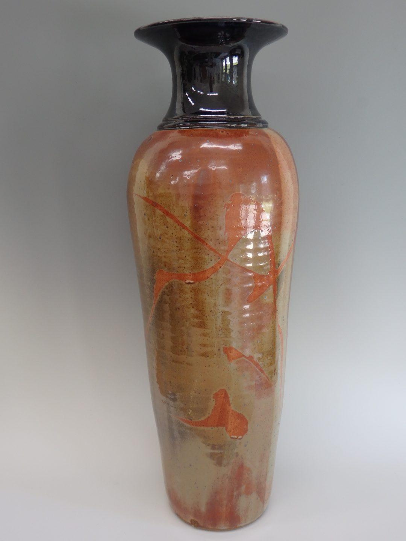 """Item # 293  Tall Shino Vase  25 1/4"""" x 18""""   $475"""