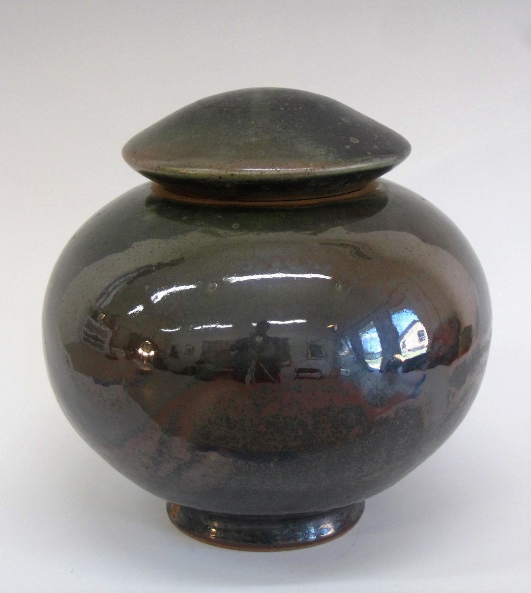 "Item # 277  Lidded Jar  9'x 8 1/2""  $125"