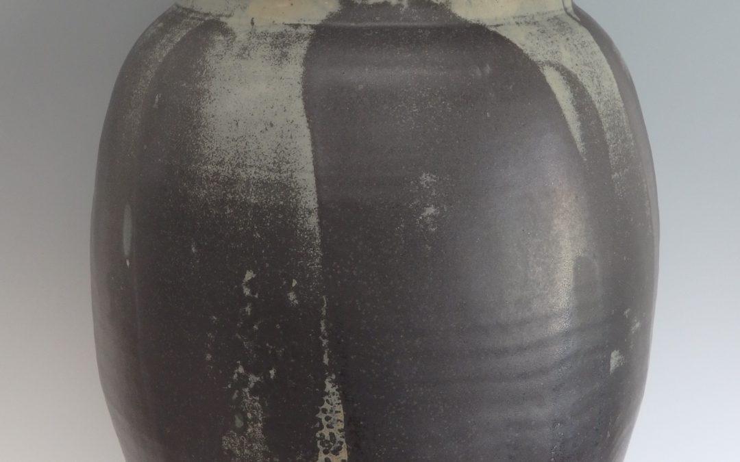 "Item #314 Lidded Jar 30""x12""   $1050"