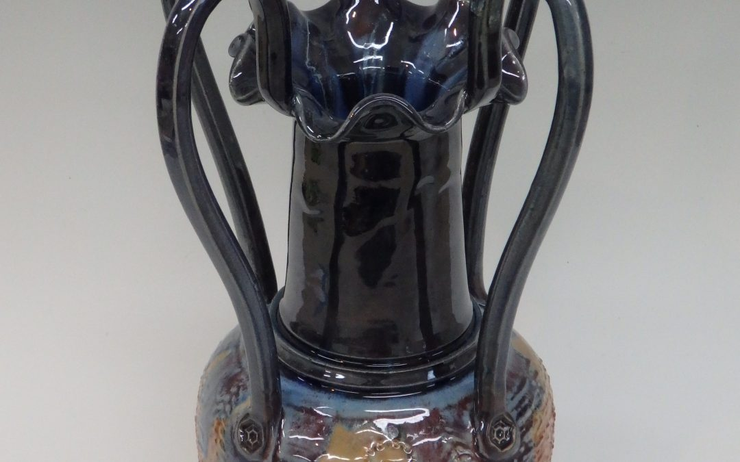 Item#330 4 Handled Vase 15″ x 10″  $225