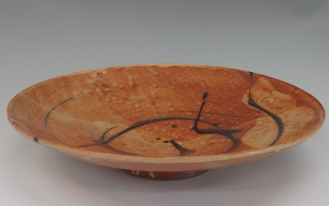 Item#334  Large Wide Shino Bowl  3 1/2″ x 15 1/2″   $225