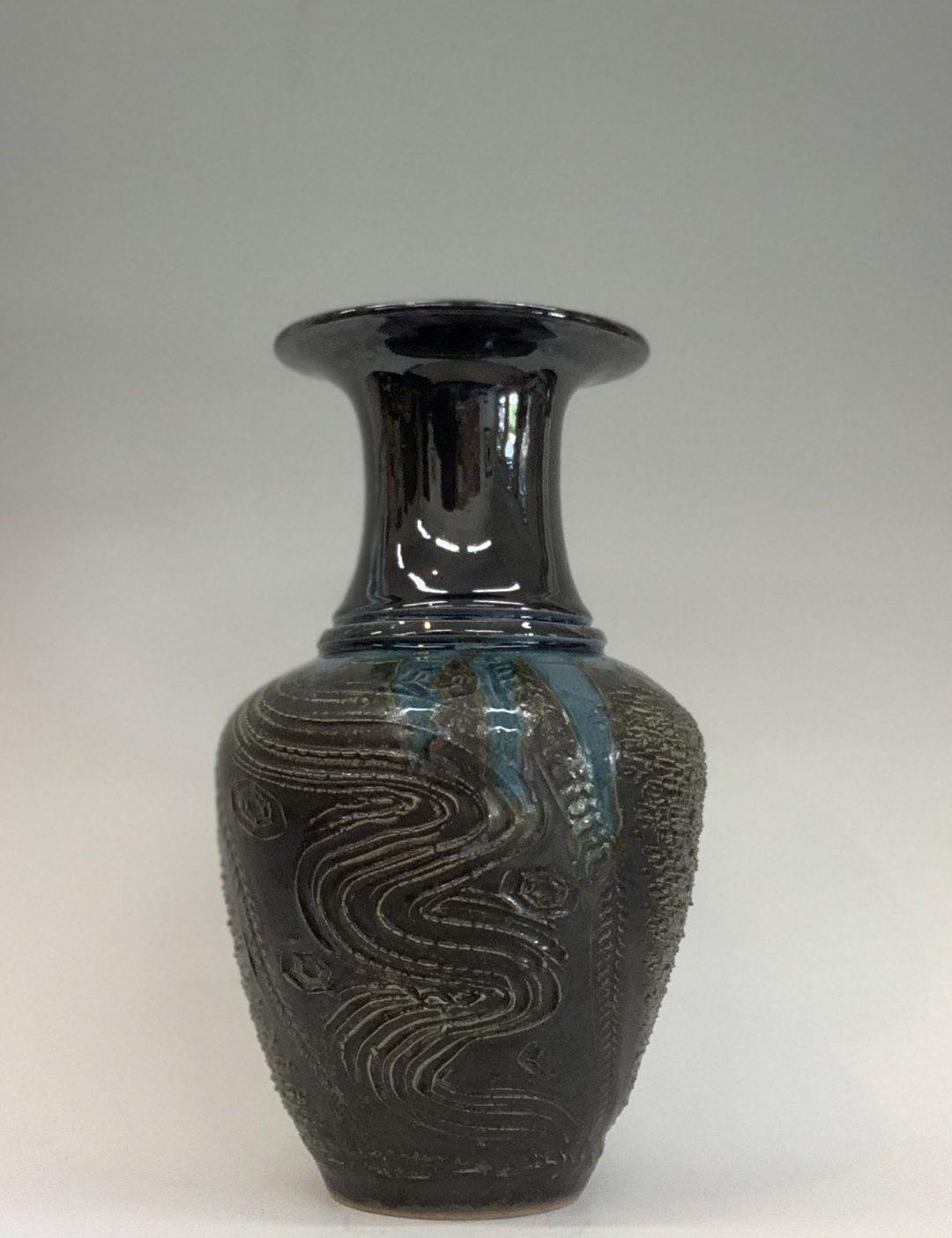 Item #341  Vase 13 1/2″X 7 1/2″  $110